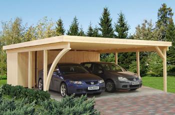 Karl 4 - 7.5m x 6.0m - Wooden Car Shelter - Under 2.5m