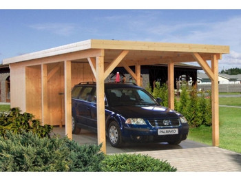 Karl 2 - 3.6m x 7.6m - Wooden Car Shelter - Under 2.5m