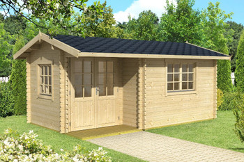 Berkshire 53 - 4.8m x 2.8m - 44mm Log Cabin - Under 2.5m
