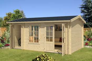 Wrexham 2 - 4.85m x 3.0m - 44mm Log Cabin - Under 2.5m