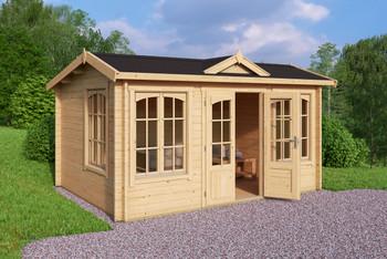 Windsor - 4.0m x 3.0m - 44mm Log Cabin - Under 2.5m