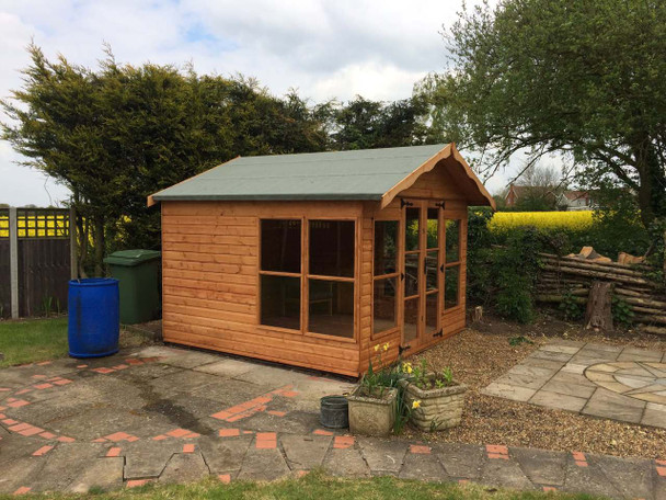A Previous Customer's Installed Rosedale Summerhouse.