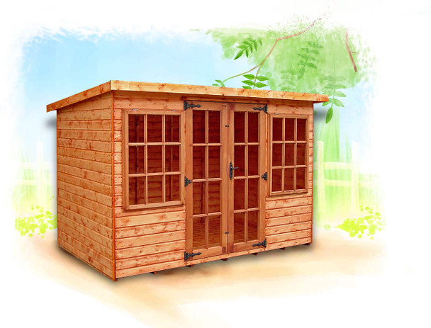 The Farndon Summerhouse is a beautiful timber building from Cabins Unlimited.