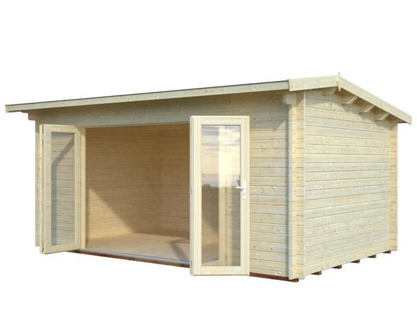 Ines 2 - 4.8m x 3.0m - 44mm Log Cabin - Under 2.5m