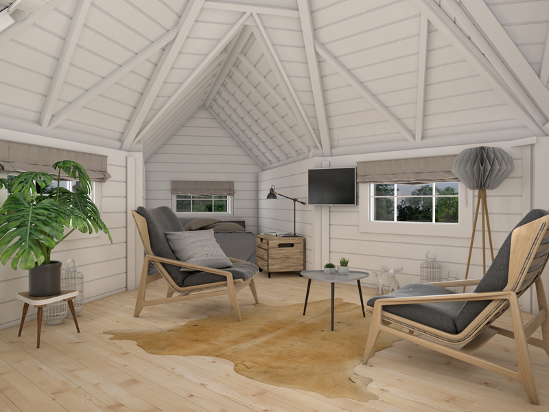 Warren 9.2m² Camping Glamping Log Cabin | Outdoor Living on Warrens Outdoor Living id=35555