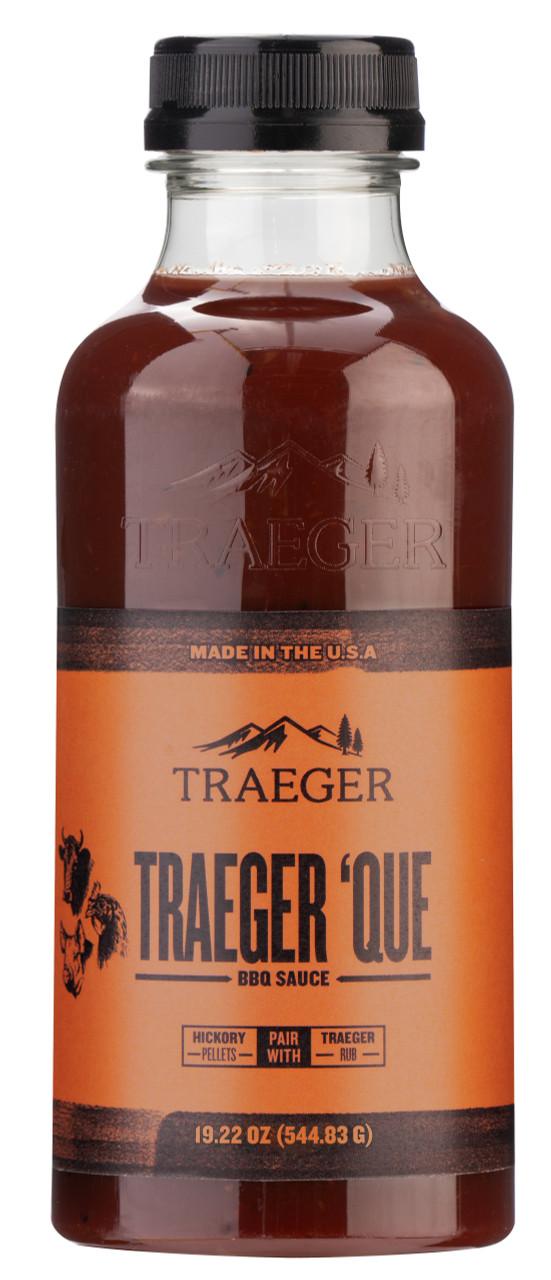TRAEGER PELLET GRILLS 'QUE BBQ SAUCE SAU039 19.2  OUNCE BOTTLE