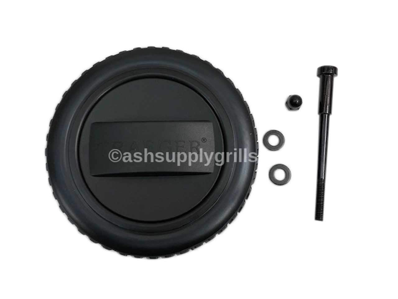 TRAEGER PELLET GRILLS GENUINE REPLACEMENT PART - KIT0138 PRO SERIES 22/34/575/780 LARGE WHEEL WITH HUB CAP