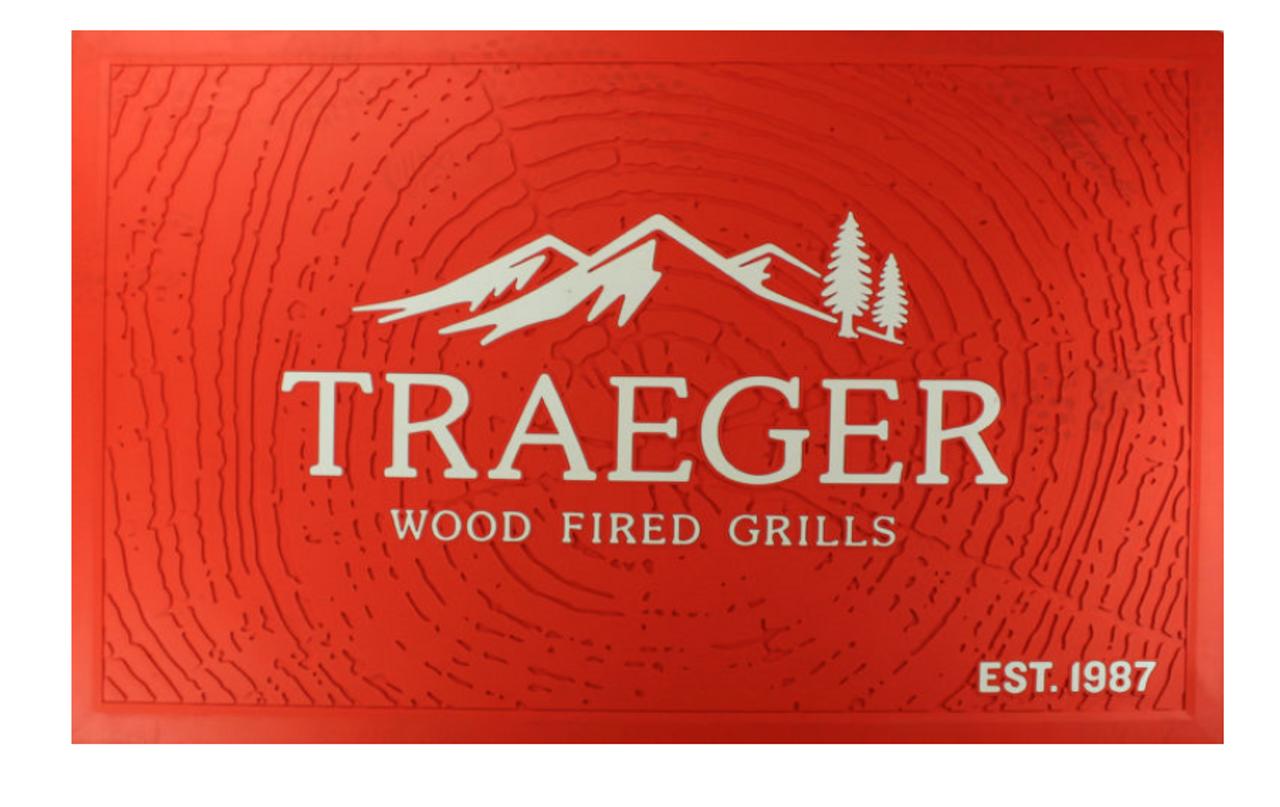 TRAEGER PELLET GRILLS GENUINE ACCESSORY - LOGO ORANGE MAT PMT054