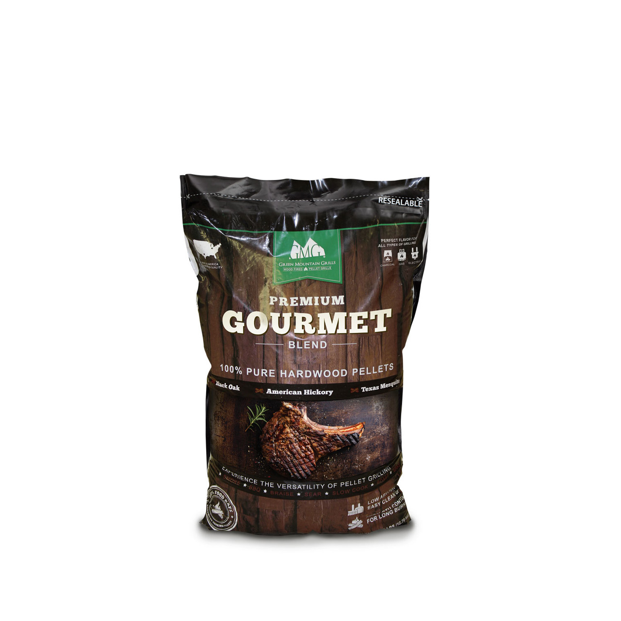 GREEN MOUNTAIN GRILLS GENUINE - GMG2007 GOURMET BLEND PELLETS 8 POUND BAG