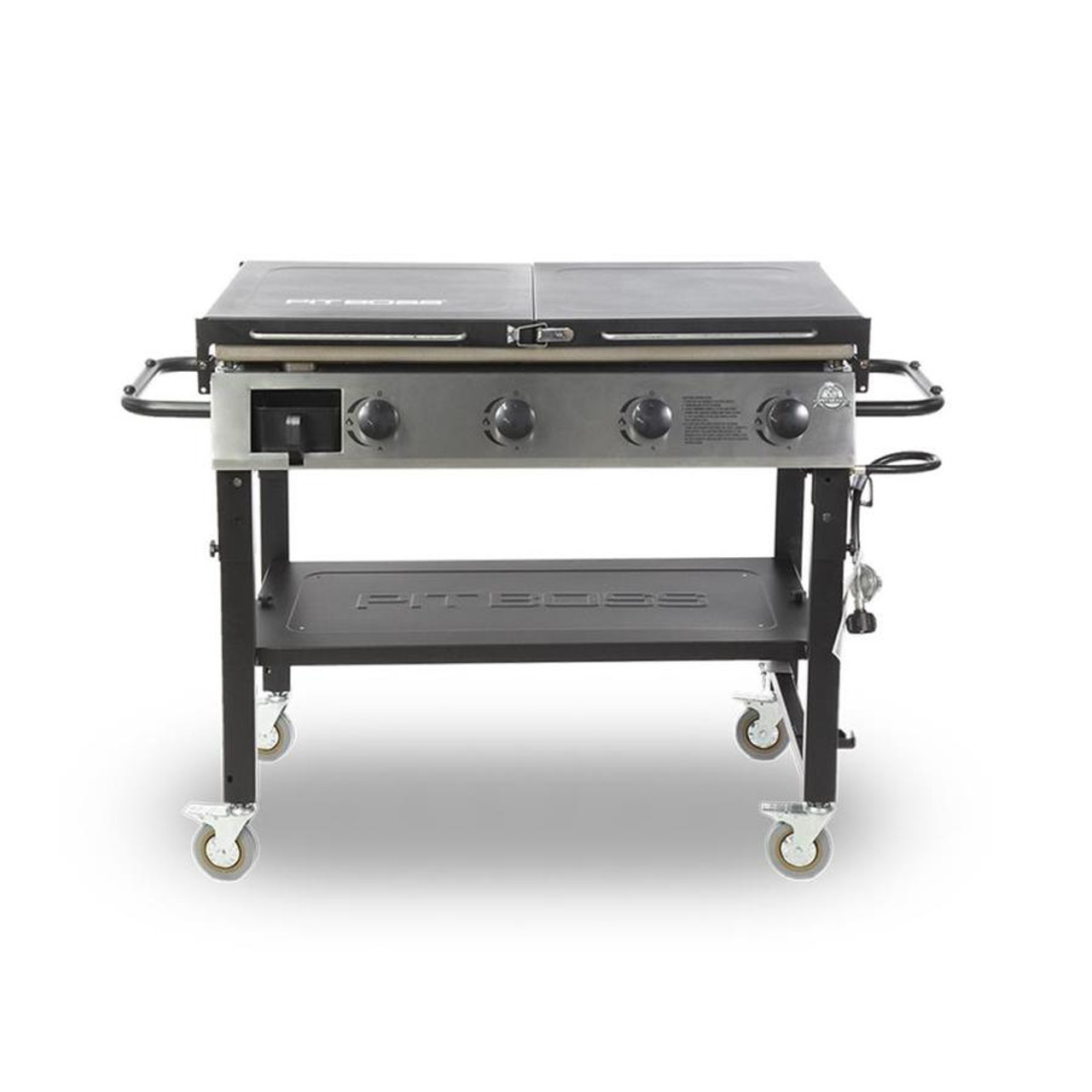 PIT BOSS DELUXE GRIDDLE 4 BURNER WITH FOLDABLE SHELVES PBGDL0757AD10555