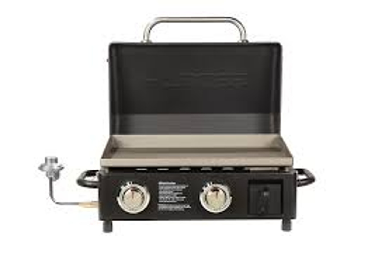 PIT BOSS GRILLS - SPORTSMAN 2-BURNER TABLETOP PORTABLE GRIDDLE WITH LID 10641
