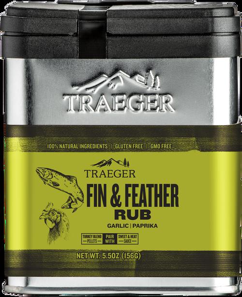 TRAEGER PELLET GRILLS FIN & FEATHER RUB SPC176 5.5 OUNCES