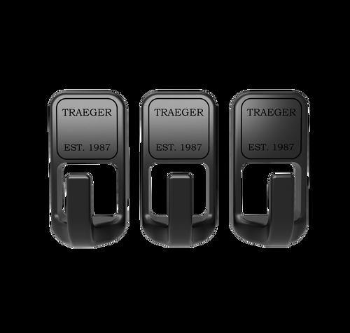 TRAEGER PELLET GRILLS GENUINE ACCESSORY -  3 PIECE MAGNETIC HOOK SET BAC536