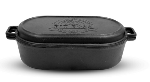 PIT BOSS GENUINE ACCESSORY -  6 QUART CAST IRON ROASTER WITH LID 68014