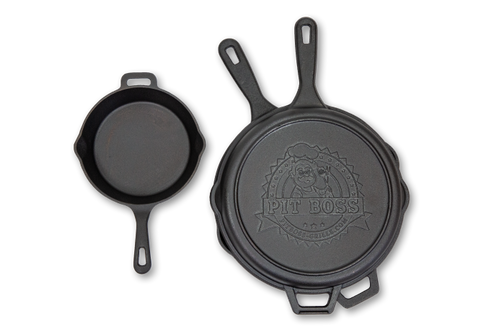 "PIT BOSS GENUINE  CAST IRON ACCESSORY - 68004 10"" CAST IRON DEEP SKILLET WITH LID"