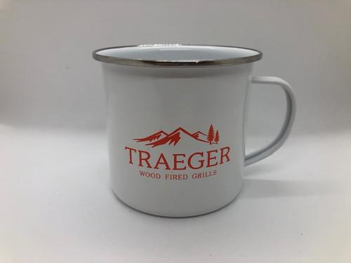 TRAEGER PELLET GRILLS - Enamel Metal Campfire Mug - 16 oz.