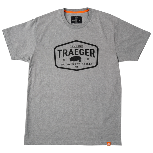 TRAEGER PELLET GRILLS GENUINE APPAREL - APP280 HEATHER GRAY CERTIFIED T-SHIRT - LARGE