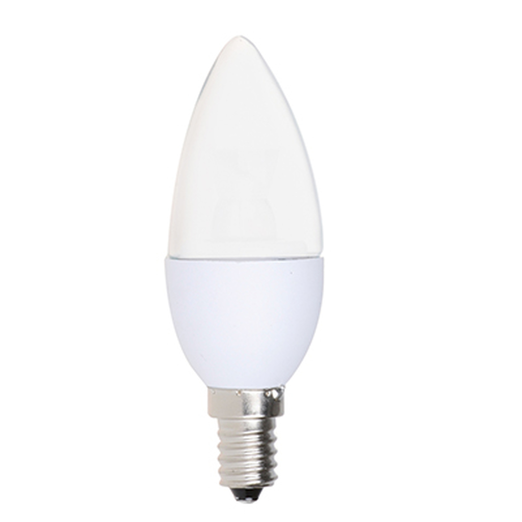 4-PACK Dimmable LED Frosted Candelabra, 5W (40W equiv), 2700K