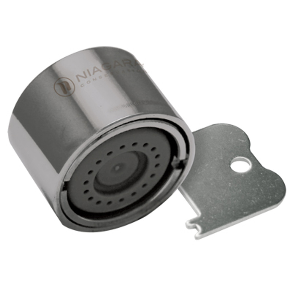 Tamperproof Female Thread 0.5 GPM Needle Spray Faucet Aerator - Tube of 6