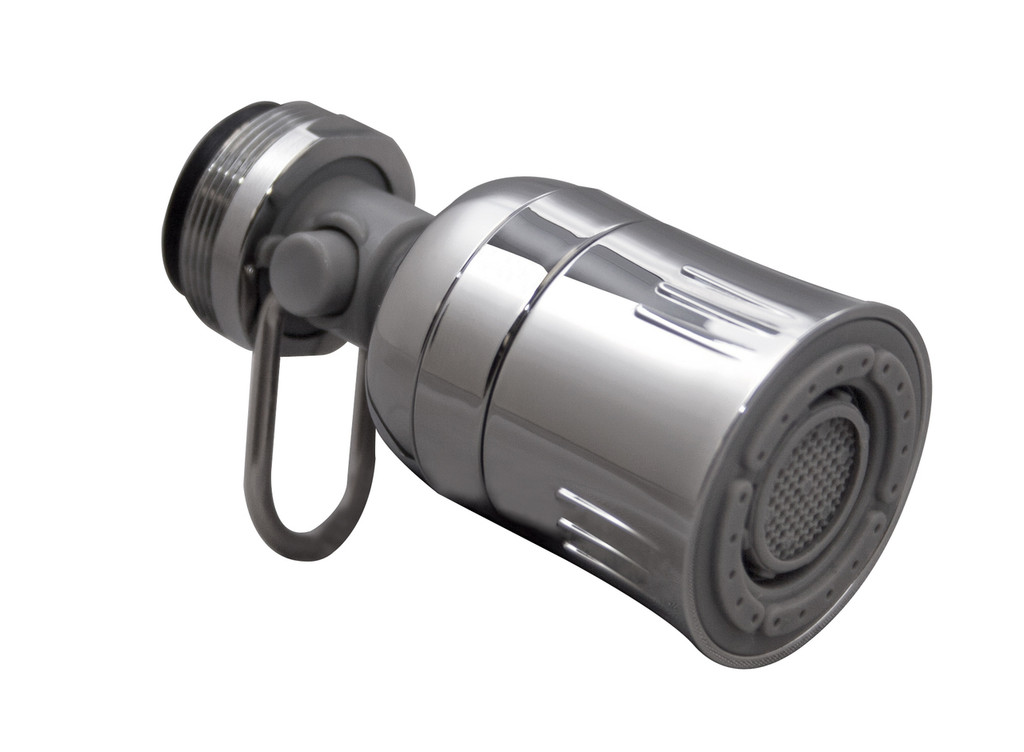 Dual Spray Kitchen Swivel Faucet Aerator with Pause, 1.5 GPM, Chrome