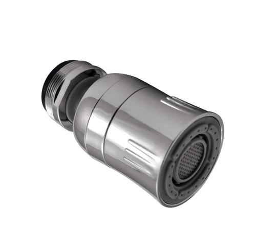 Dual Spray Kitchen Swivel Faucet Aerator, 1.5 GPM, Chrome