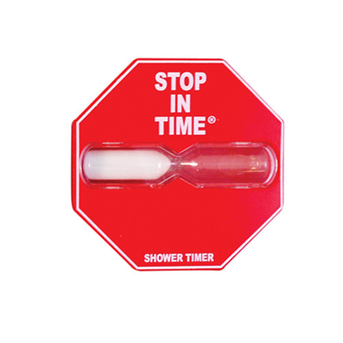 red 5 minute shower timer