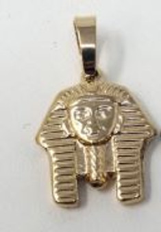 18K Gold Fill Pharaoh Head Pendant - Dainty Egyptian King Tut Necklace Charm