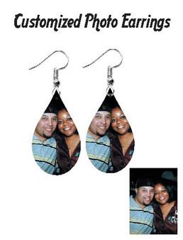 Customized Photo Earrings (Tear Drop)