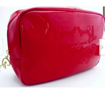 Christian Lacroix Rouge Makeup Bag  in Vivid Red Vinyl