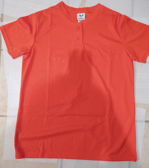 Protime Two-Button Mesh Baseball Jerseys - Orange Large