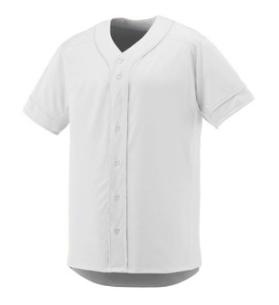 Teamwork Full button Mesh Jersey - White Medium
