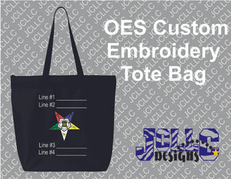OES Custom Embroidered Tote Bag