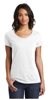 District DT6503 Women's Very Important Tee V-Neck