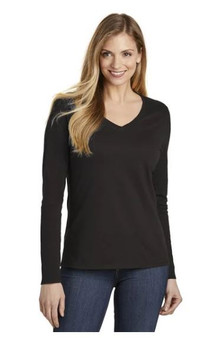 District DT6201 Women's Very Important Tee Long Sleeve V-Neck