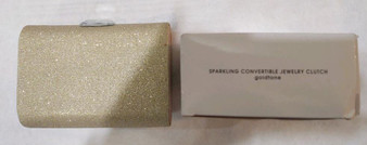 Sparkling convertible Jewelry Clutch (goldtone)