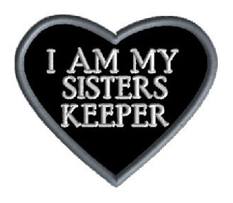 Embroidery - I Am My Sisters Keeper Heart Patch
