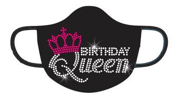 Rhinestone - Birthday Queen Mask