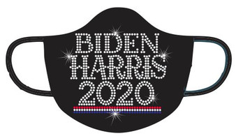 Rhinestone -Biden Harris 2020 Mask