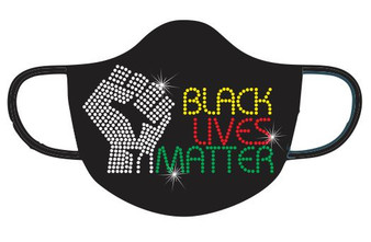 Rhinestone -Black Lives Matter Mask