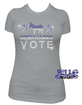 Biden Harris Vote (Rhinestone)