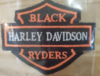 Black Harley Davidson Patch