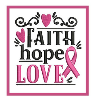 Embroidery Patch - Faith Hope Love