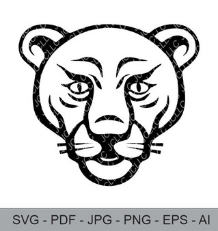 SVG - Lion Face