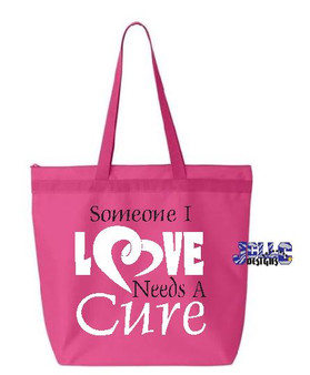 HT Vinyl - Someone I Love Need A Cure Tote Bag