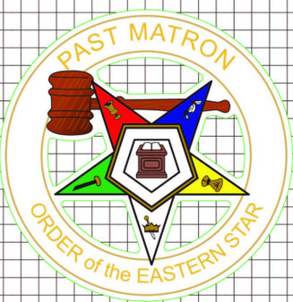 Window Decal - OES Past Matron
