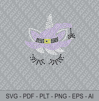 Rhinestone Template - Halloween Unicorn