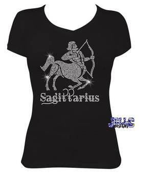 Rhinestone - Sagittarius Zodiac Tee