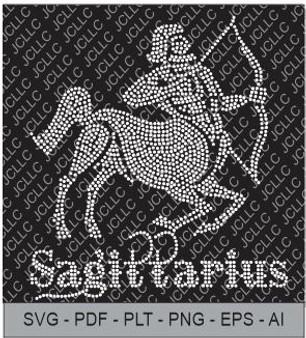 Rhinestone Template - Sagittarius