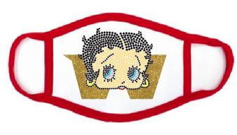 Rhinestone - Washington Betty Boop Mask