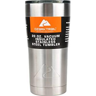 Ozark Trail 20-ounce Double-Wall vacuum-sealed Tumbler (Set of 4)